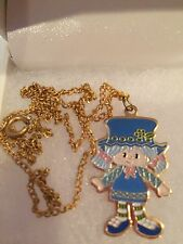 EUC Vintage Strawberry Shortcake 1980 AGC Blueberry Muffin Charm Necklace- Cute