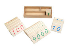 New Montessori Small Wooden Number Cards 1-9000