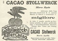 Y2157 Cacao Stollwerck marca Aquila - Pubblicità del 1903 - Old advertising