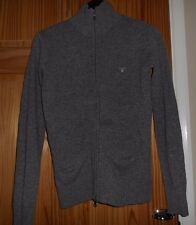 Women's GANT Grey 100% Lambwool Zipped Cardigan size Med