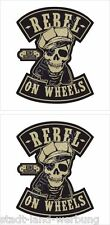 525  King Kerosin Set Rebel on Wheels Aufkleber Sticker Rockabilly Oldschool V8