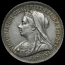 1900 Queen Victoria Veiled Head Silver Shilling – EF