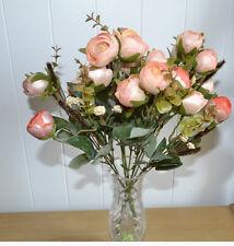 2 x Rosenstrauß künstliche Blumen Kunstblumen Kunststoff Deko Kunstblumen Rosen