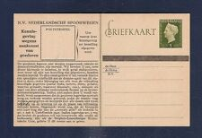 21 Netherlands Railway Postal Stationery Card from collection 1950  Hartz