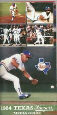 1984 TEXAS RANGERS MLB MEDIA GUIDE VINTAGE FREE SHIPPING