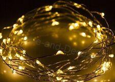 100er LED Drahtlichterkette Leuchtdraht Dekodraht Led Micro Draht Lichterkette