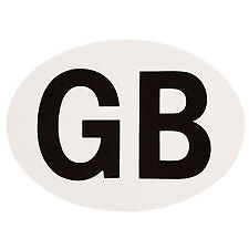 GB STICKER LABEL  CARAVAN - MOTORHOME - BOAT T325
