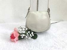COACH (VERY RARE) PEARLIZED PARTY BAG IN IVORY LEATHER - ITALY MADE 1998 - #6106