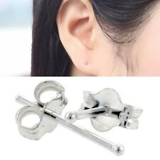 1.5mm Extra Small 925 Silver Ball Stud Earrings 1 Pair for Women Girl Jewelry