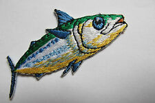 """2-3/4"""" TUNA Fish Embroidery Iron On Appliqué Patch--#5110"""