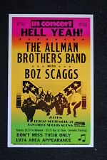 The Allman Brothers Band Tour Poster 1974 San Diego Boz