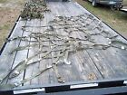 MILITARY SURPLUS CARGO NET NETTING GREEN TRUCK TRAILER CARGO ARMY PLAYGROUND