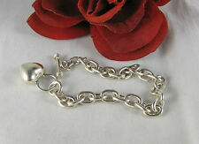 Sterling Silver 25g Heart Toggle  Bracelet  FERAL  CAT RESCUE