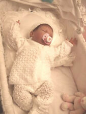NICE Knit Baby Doll Outfit For Reborn WHITE