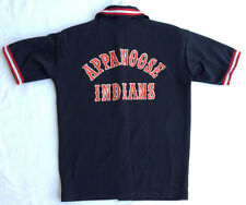 Vintage Appanoose Indians Snap Up Knit Polyester Collared Jersey Shirt Men's S