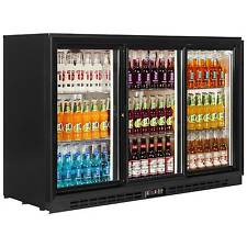PD30S 3 SLIDING DOORS PUB CLUB BAR BEER BOTTLE COOLER FRIDGE & FREE UK DELIVERY
