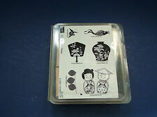 stampin up 2002 retired 6 piece stamp set gifts from the orient rubber mounted
