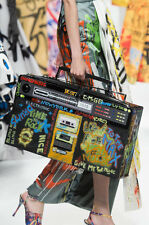 RUNWAY AW15 Moschino Couture X Jeremy Scott GRAFFITI Boombox Stereo Bag $3195
