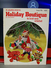 HOLIDAY BOUTIQUE TO KNIT AND CROCHET PATTERN COLUMBIA MINERVA #793 DOG ELVES +