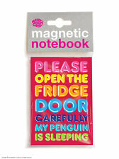 Brainbox Candy Penguin fridge magnetic notebook/pad funny cheap present gift