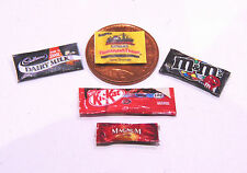 1:12 Scale 5 Mixed Sweet Packets Dolls House Miniature Food Shop Accessory Set 1