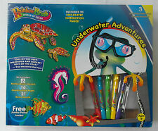 RAINBOW BRUSH® Art Set-Underwater Adventures Free Jumbo Poster Stencils Markers