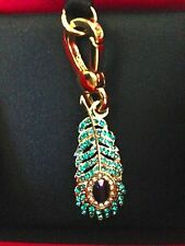 Juicy Couture Peacock Feather Charm-NWT