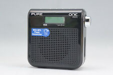 F/S NEW PURE ONE Mini Portable DAB/FM Radio Black UK w/box 657r12