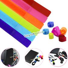50 Pcs Straps Wrap Wire Velcro Organizer Cable Tie Rope Holder for Laptop PC TV