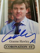 6x4 Hand Signed Photo Coronation Street John Stape - Graeme Hawley