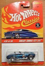 Hot Wheels Classics Series 2 Shelby Cobra 427 S/C #20 of 30 Blue