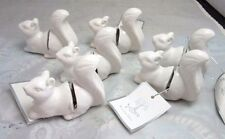 6X name place card holders. Squirrel. Silver Tree