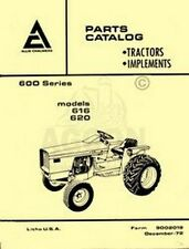Allis Chalmers 616 620 600 Tractor Parts Catalog Manual