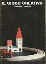Il Gioco Creativo - Catalogo Giocattoli 1984/85 Legno Costruzioni Città del Sole