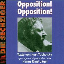 Hanns Ernst Jäger -Opposition! Opposition! Texte von Kurt Tucholsky PLÄNE CD OVP