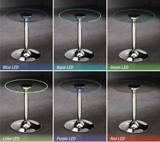 Transitioning LED End Table with Chrome Base & Glass Top  by Coaster 701497