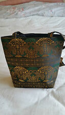New Ladies Women's Shoulder Bag Tote Handbag Indian Design Silk Effect Material