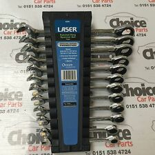 Laser 6296 Ratchet Ring Spanner Set 12pc