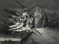 GUSTAVE DORE INFERNO CANTO 21 OLD MASTER ART PAINTING PRINT POSTER 1230OMA