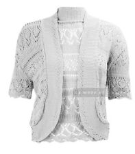 Z10 NEW WOMENS KNITTED BOLERO PLUS SIZE SHRUG CROCHET LADIES CARDIGAN TOP 08-30.