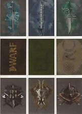 "The Hobbit Five Armies - Foil Parallel ""Weapons"" Set of 9 Chase Cards #W1-W9"