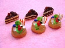 20 Mini Chocolate Cake Fruit Tart Resin/Doll House Miniatures/Craft/Decor B85