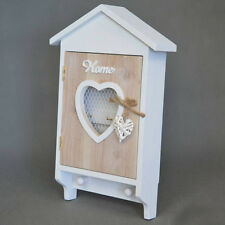 SHABBY CHIC IN LEGNO Chiave Scatola Storage Holder paese francese CASA NUOVO