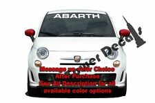 "30"" Straight Windshield Banner Vinyl Decal fits Fiat Abarth 500"