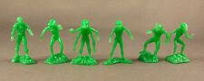 Aliens Complete Set of 6 Marx Mystery Space Ship 1960s Vintage PlaySet Plastic