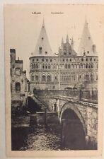 LÜBECK • Holstentor • 3.4.1917 Feldpost n. Heide Holstein