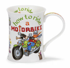 Comical 'How To Ride A MotorBike' Dunoon Fine Bone China Mug Cotswold Shape