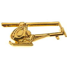 Hughes 300 helicopter Tie Pin - Tiepin Badge-NEW - Gold Plated