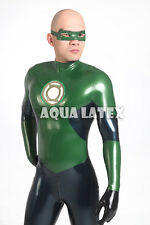 Green Lantern Cosplay Rubber Latex Catsuit Zentai Latex Full Bodysuit Cosplay