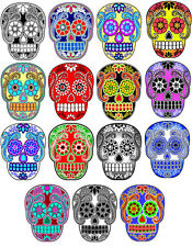Day of the Dead Halloween 15 sugar skull flowers stickers scrapbooking crafts
